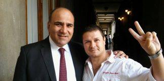 Luis Romano con Manzur