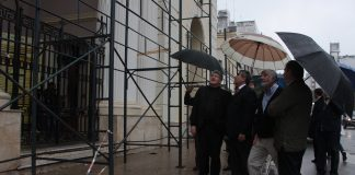 Alfaro supervisó obras en la catedral