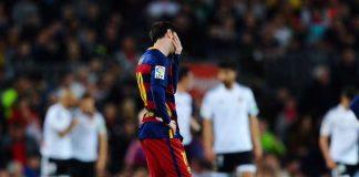 Messi derrotado en su casa