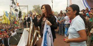 Milagro Sala junto a Cristina Kirchner