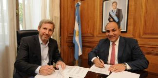 Juan Manzur junto a Rogelio Frigerio