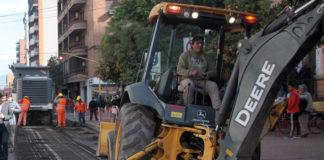 Sigue la reparación de calles céntricas.
