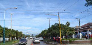 Trabajos previos para la instalación de semáforos en Alberdi