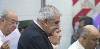cura José Mijalchyk durante el juicio por delitos de lesa humanidad
