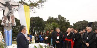 Inauguración del oratorio del Parque 9 de Julio