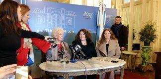 Estela Carlotto en conferencia de prensa en el Salón Blanco