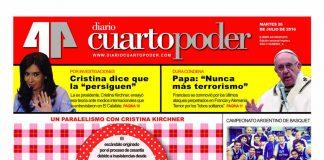 Tapa edición semanal impresa Diario Cuarto Poder