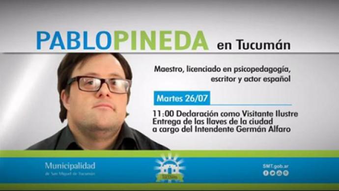 Pablo Pineda en Tucumán