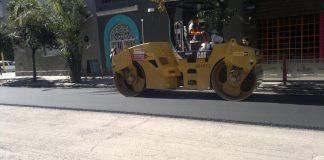 Trabajos de repavimentación calle Maipú