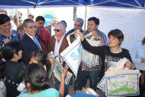 El intendente Germán Alfaro en el Municipio en los Barrios