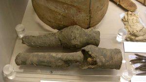 Piernas momificadas de Nefertari