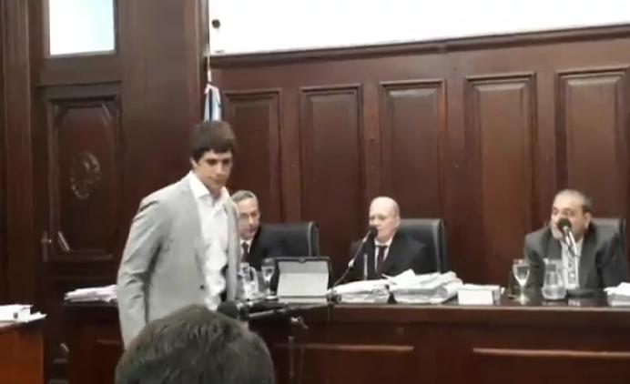 Daniel Alperovich en Tribunales.