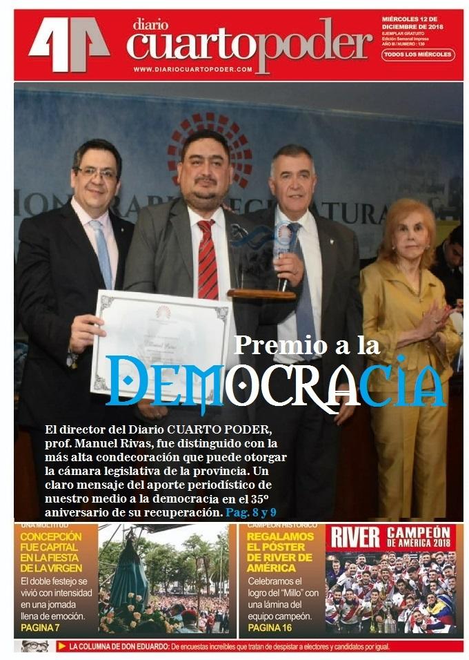 Diario Cuarto Poder fue distinguido con el premio de la ...